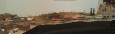 BNSF Approching the town