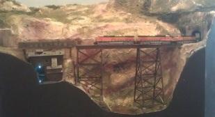 BNSF power on Hells Glen Trestle