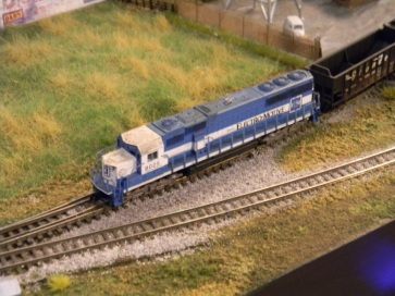 EMD Demonstrator on a coal run (Photo by Andy)