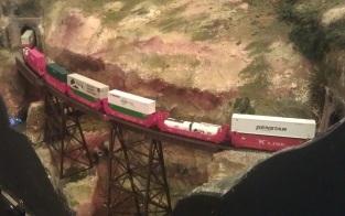 Intermodal on Hells Glen Trestle