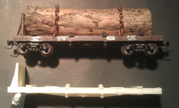 Log car without bow