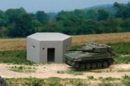 Pillbox in concrete & Scimitar Tank