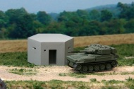 Pillbox in concrete & Scimitar Tank