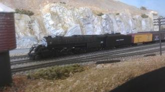 Sierra 38 with box car train