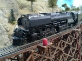 UP 3710 on James Canyon Trestle