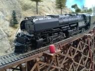 UP 3710 on James Canyon Trestle