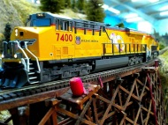 UP 7400 over James Canyon Trestle