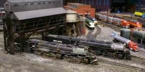 Big Boy And Challenger on shed