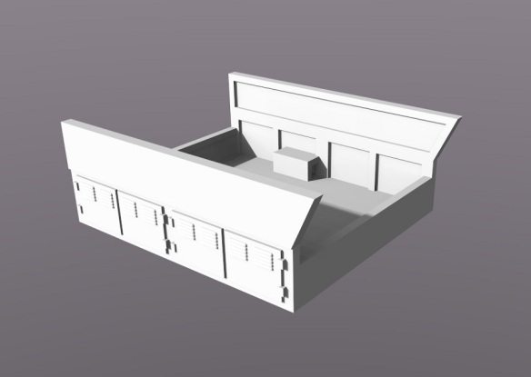 GE Gas Turbine Battery Box Render