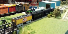 BR HO Modular Group With UP Tender - NMRA 2014 13