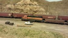 Horsethief Bridge NMRA 2014 - BNSF MOW Train 1