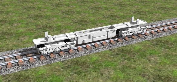 Alco C-628 Dummy Chassis Render 3