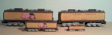 O Scale Tender Shells Finished 12