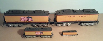 O Scale Tender Shells Finished 13
