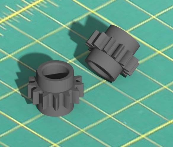 Rivarossi F9 Scale Gears Render