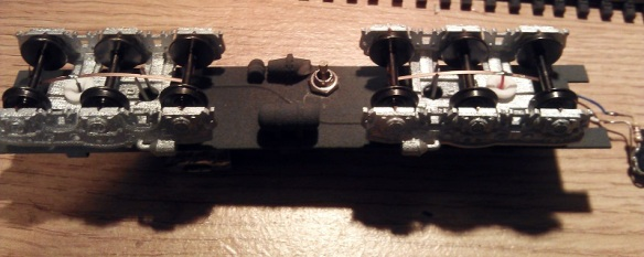 HO UP Tender Chassis Switch 8