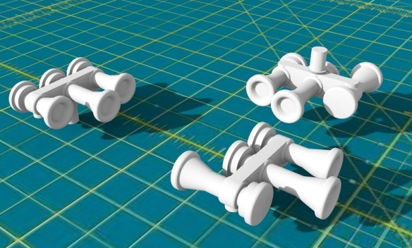 N Scale Horns Render