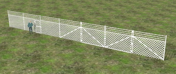 Chain Link Fence Render