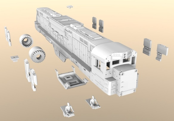 Alco C-855 3D printed parts (render)