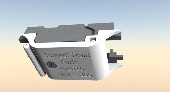 Alco C-855 Fuel Tank Fitting 2 (render)