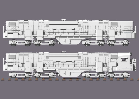 Alco C-855B Side View
