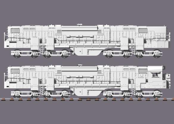 Alco C-855B Side View